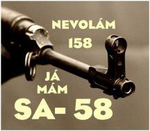 "Samolepka ""Nevolám 158"" 10x10 cm"