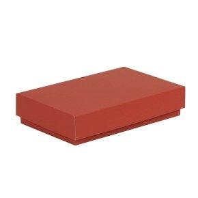 Dárková krabička s víkem 250x150x50/40 mm, červená
