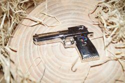 Pistole Silver kov USB 8 GB
